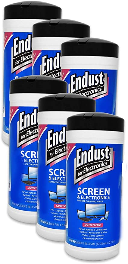 Endust EFE14705 Screen /& Electronic Wipes Soft Pack 20 ct