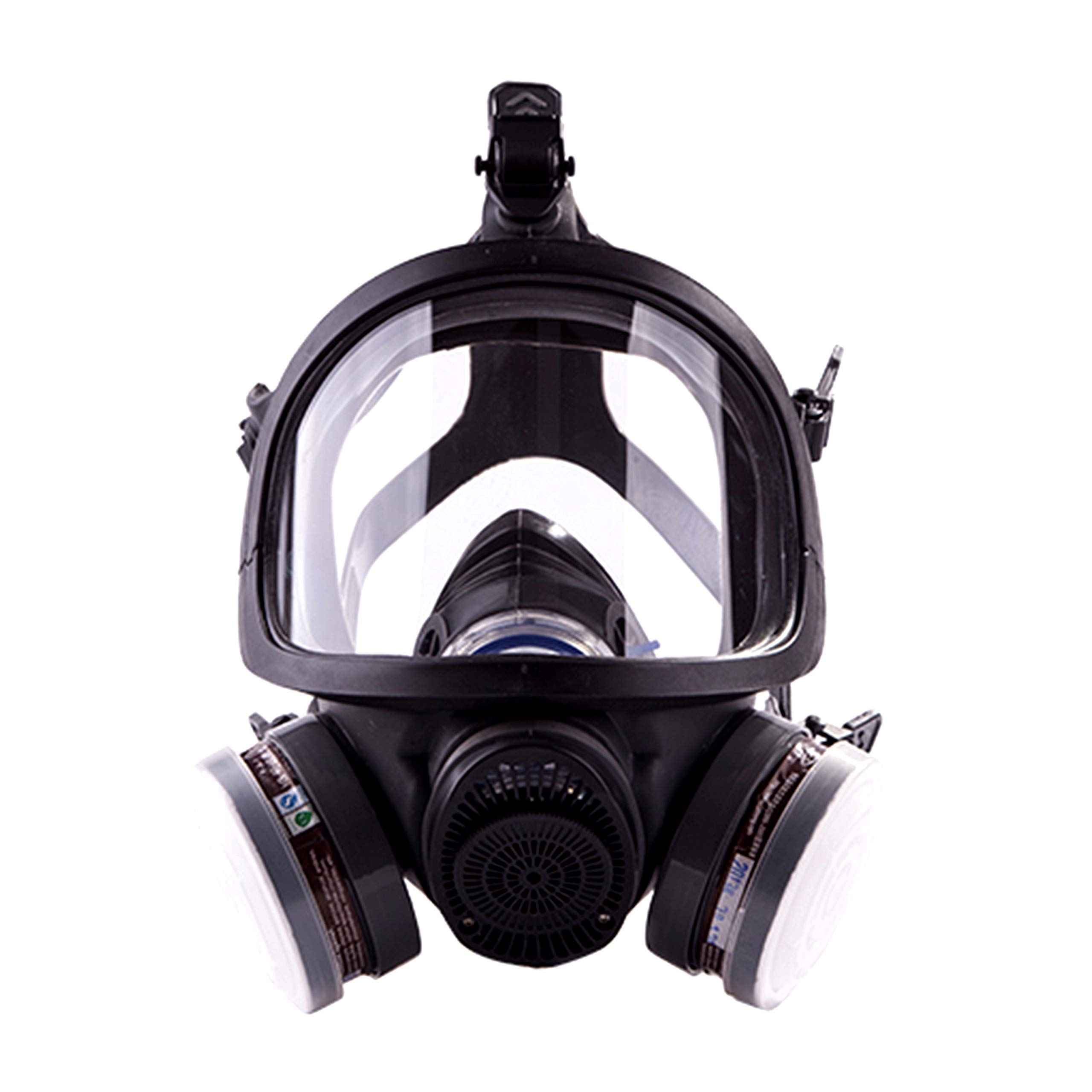 Holulo Full Face Respirator Double Air Filter Cartridge Industrial Grade Quality Respiratory Protection Paint Safety Mask CE Certification