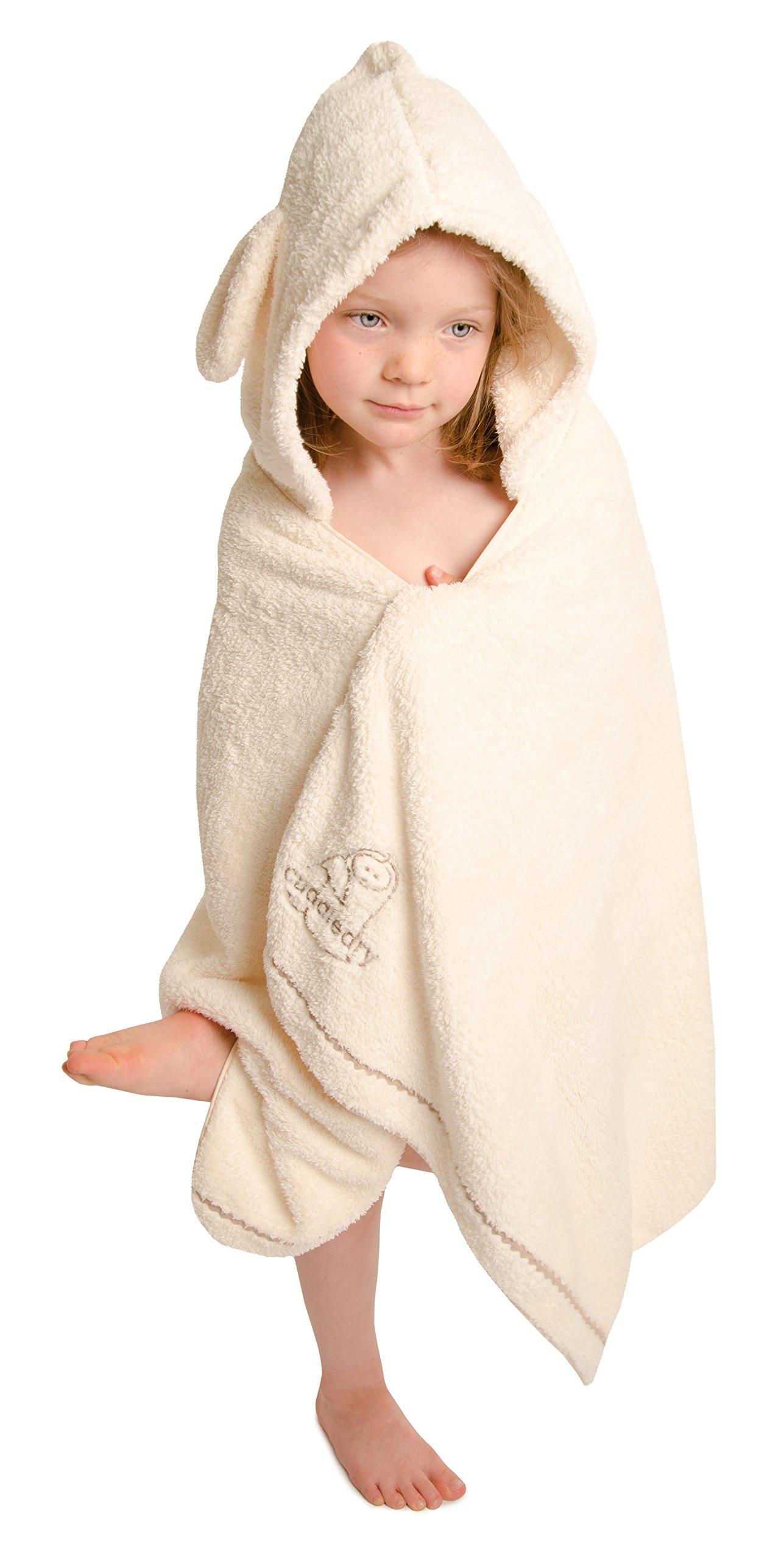 Cuddledry Plush Hooded Bath Towel (Snuggle Bunny) by Snuggledry