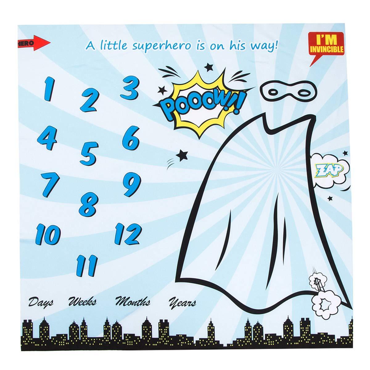 accessoire de photo en toile de fond Couverture Milestone Baby de super-h/éros