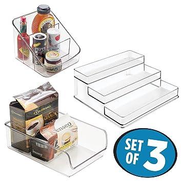 mDesign Küchen Organizer 3er-Set aus Kunststoff ...