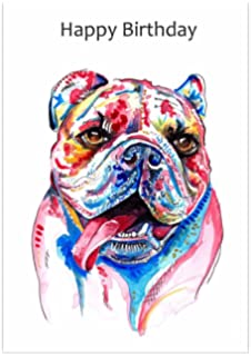 British Bulldog Birthday Card Gift English Cards
