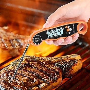 Compra Z ZANMAX Termómetro de Cocina Digital, Termómetro de Carne de Lectura Instantánea Termómetro de Comida, Impermeable y Plegable en Amazon.es