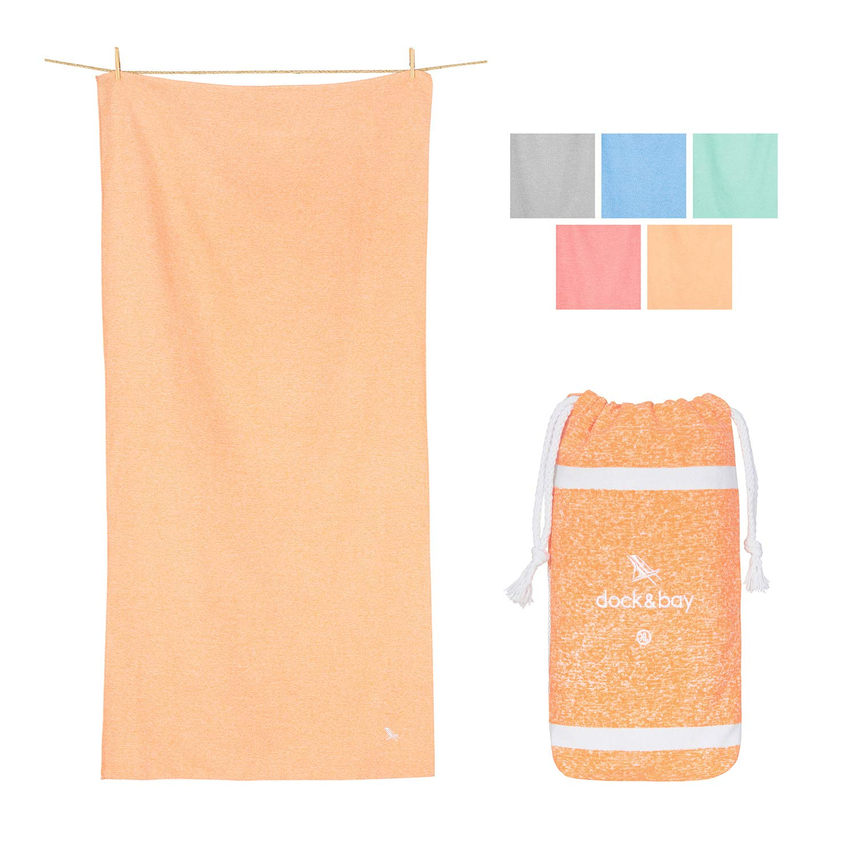 Dock & Bay XL Mat Towels for Sports - Dune Orange, 78 x 35 - Yoga, Pilates & Beach - Travel Towel, Camping, Swim & Pool