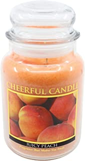 product image for A Cheerful Giver Juicy Peach Jar Candle, 24-Ounce, 24oz, Orange