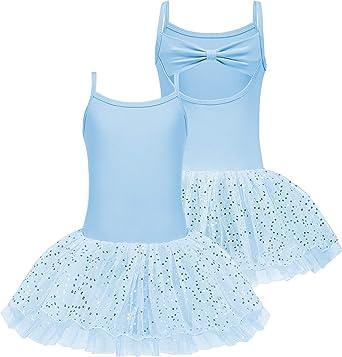 Bricnat - Maillot de ballet para niña, sin mangas, de algodón, con ...