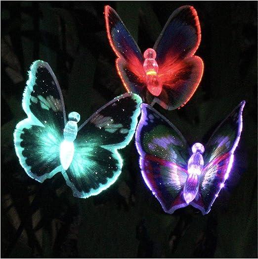 LIUNIAN Luces solares de jardín Mariposa al aire libre LED Luces solares de hadas Paisaje a prueba de agua multicolor para jardín, patio, patio trasero, decoración de balcón: Amazon.es: Iluminación