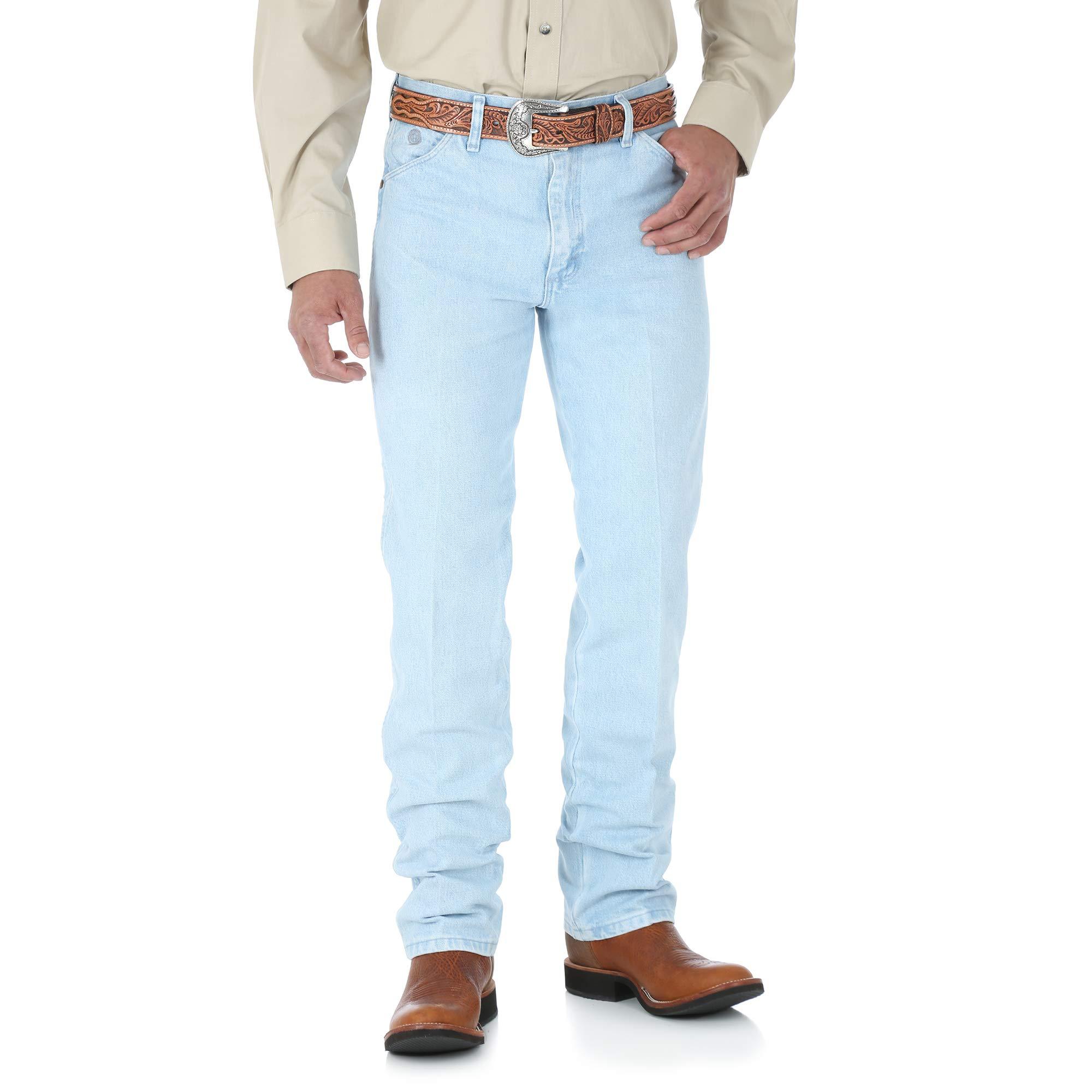 b332d562 Galleon - Wrangler Men's George Strait Cowboy Cut Original Fit Jean,  Bleach, 35W X 34L