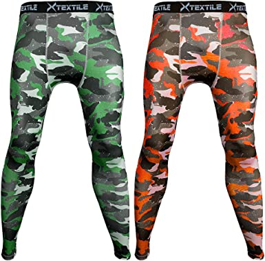 Mens Athletic Compalssion Compression Tights Blue Camo Drifit Running Pants S