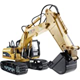 Huina Alloy 15 Channel 2.4G Full-Function Remote Control RC Excavator Full Function Crawler Tractor Construction Vehicle Toy