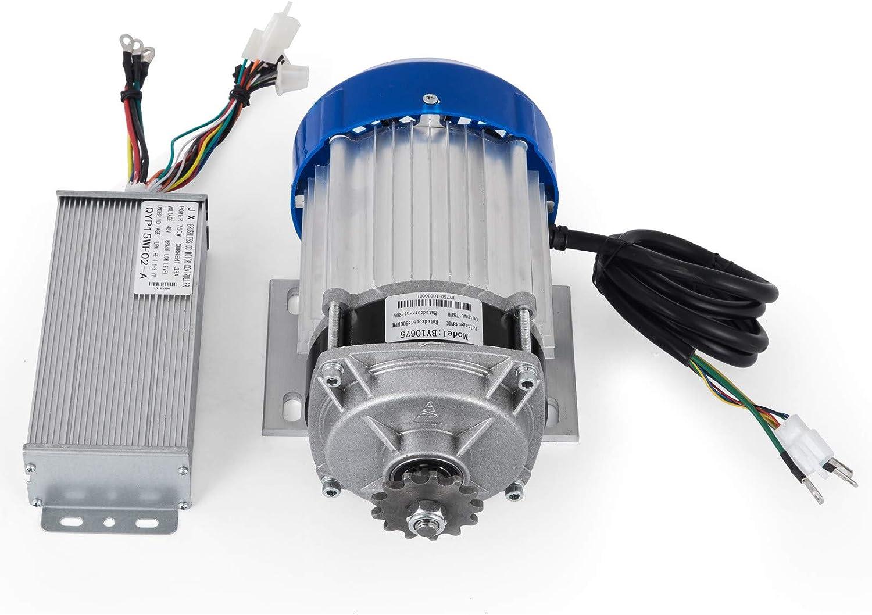 Mophorn Motor DC sin Escobillas 48V 750W con Reducci/ón de Engranaje 6:1 con Controlador