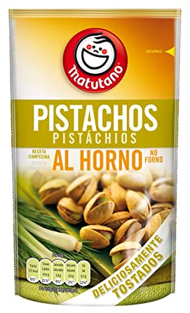 MATUTANO pistachos al horno receta campesina bolsa 94 gr: Amazon ...