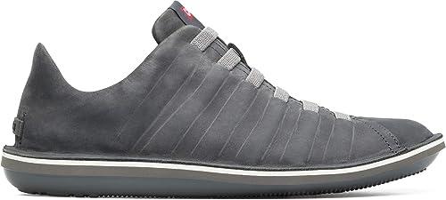 Zapatos CAMPER Beetle 18751 zapatos es el gris Cuero Con