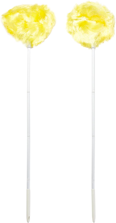 "Estilo EST0144-2 Ceiling & Fan Duster - Removable & Washable, 4 Section Pole That Extendsup To 47"" (Pack of 2),,"