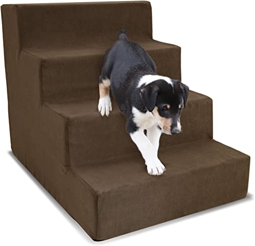 Homebase Dog Stairs For Couch 3 Steps, 4 Steps, or 5 Dog Steps for High Bed – Dog Steps For Small and Medium Dogs or Cats – Scalloped Ramp for Bed, Couch, Smaller and Older Dogs.