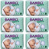 Bambo Nature Baby Diapers Classic, Size 1 (4-9 lbs), 168 Count (6 Pack of 28)