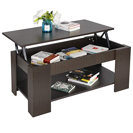 ZENY Lift Top Coffee Table with Hidden Compartment and Storage Shelves  Modern Furniture for Home, Living Room, Décor
