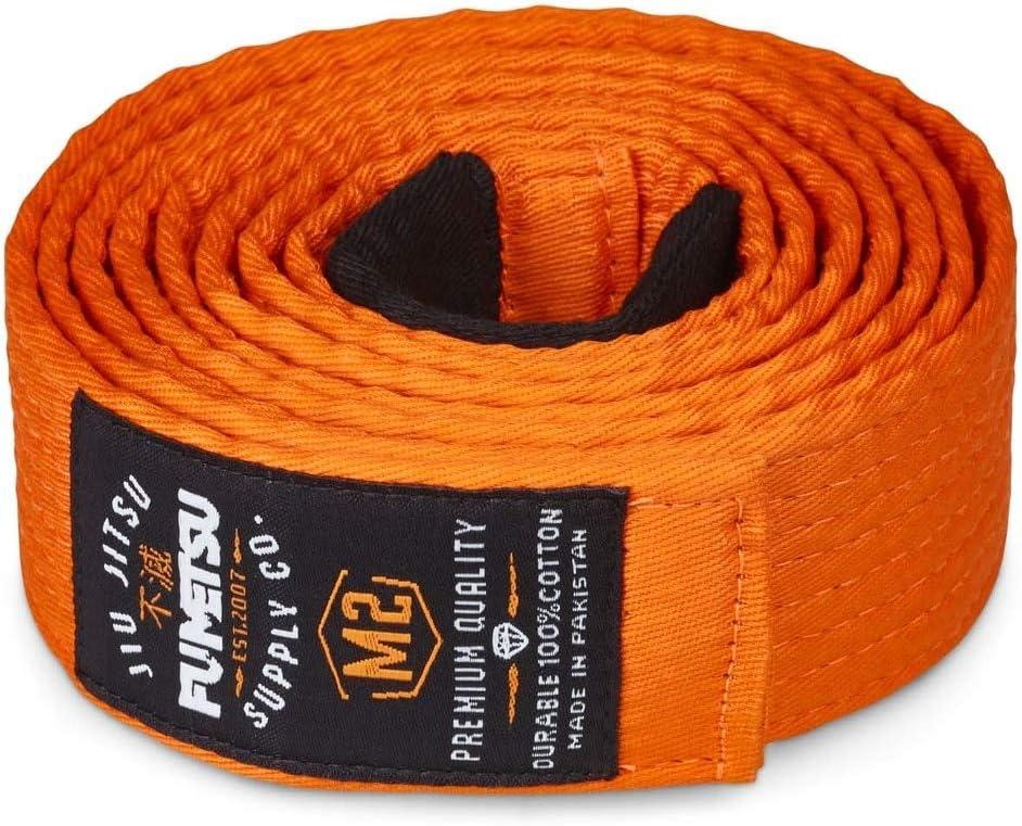 Fumetsu V2 Kids BJJ Belt Orange Martial Arts Sports & Outdoors ...