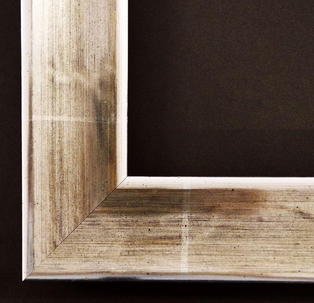 Spiegel Wandspiegel Badspiegel Flurspiegel Garderobenspiegel - Über 200 Größen - Kupferburg Weiß - gold 12 Karat, Rücken schwarz 4,5 - Außenmaß des Spiegels 100 x 140 - Über 100 Größen zur Auswahl - Wunschmaße auf Anfrage - Modern, Antik