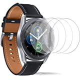 FilmHoo[4 Pack] Samsung Galaxy Watch 3 41mm Tempered Glass Screen Protector, Max Coverage Bubble-Free Anti-Scratch
