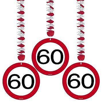 3 bobinas del rotor 60 º Cumpleaños señal de tráfico