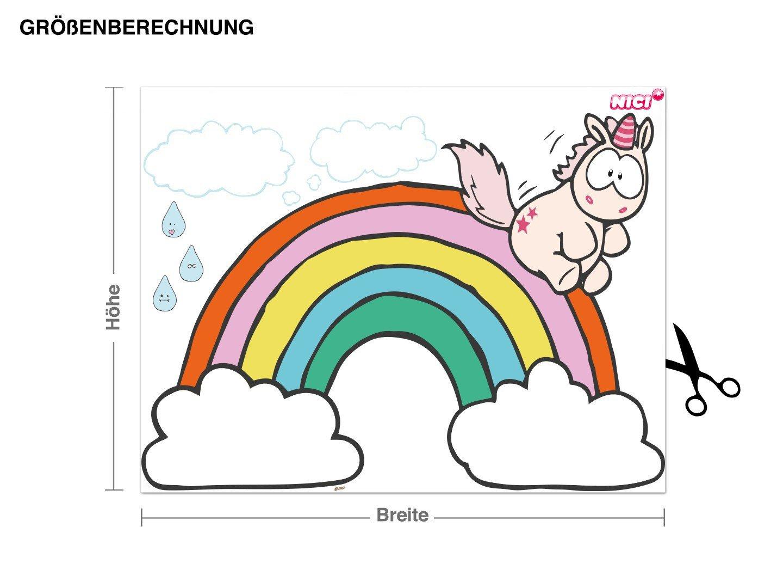 Klebefieber Wandtattoo Theodor rutscht von Regenbogen B B B x H  70cm x 50cm B07519QP5S Wandsticker & Wandfiguren 7ee2c9