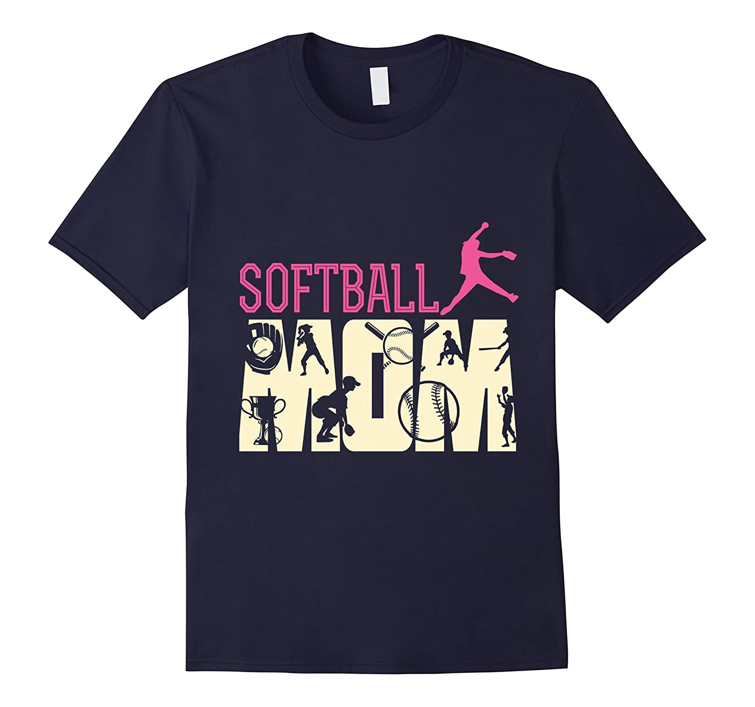 SLIM FIT softball mom mommy mother mum sports pride pitcher-TH