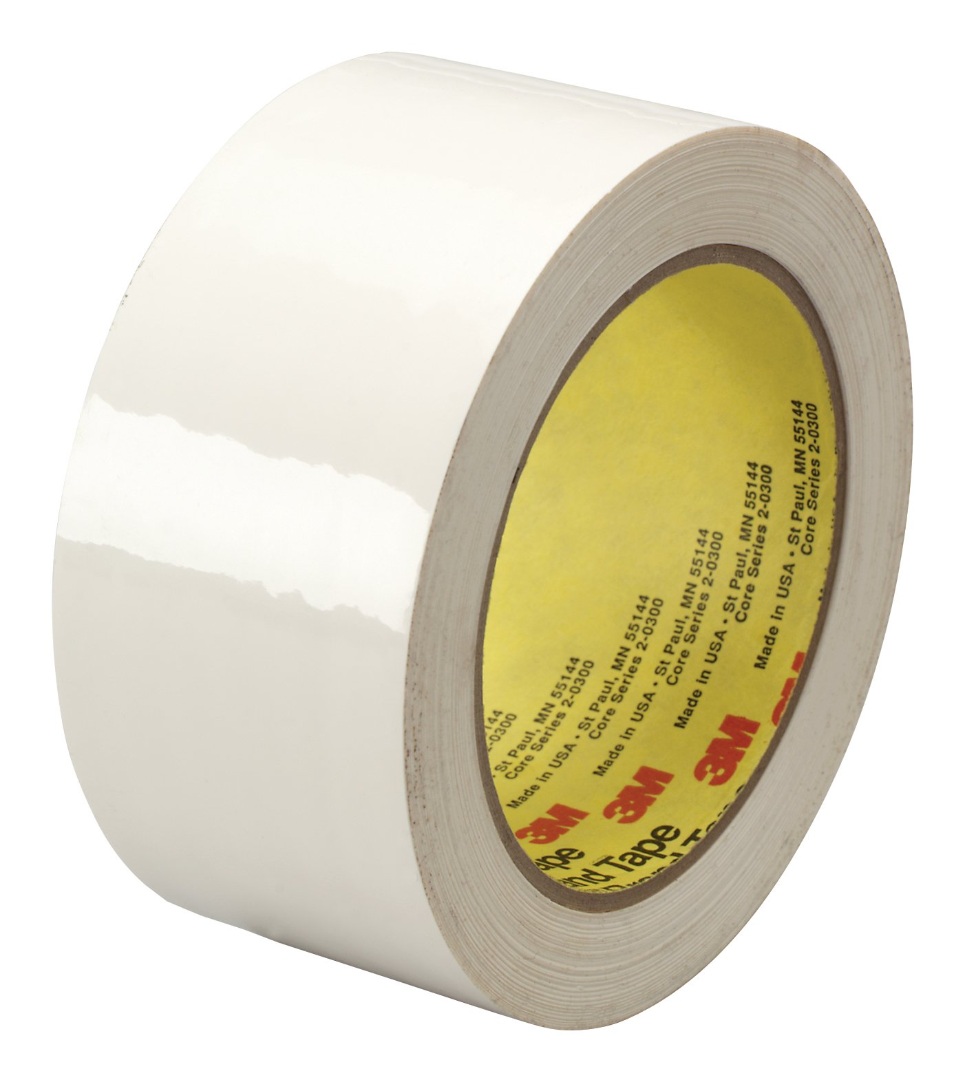 3M Polyethylene Film Tape 483 White, 1 in x 36 yd 5.3 mil, Conveniently Packaged (Pack of 1)