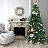 a0852e465ec Tangkula Árbol de Navidad Artificial Material PVC 213cm Bisagra Decoración  para Navidad Hogar Fiesta 1116 Ramas