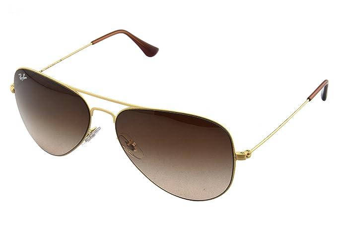 3a3d44ba217cf4 Ray Ban Unisex Sonnenbrille Aviator Flat Metal, Gr. Large (Herstellergröße:  58)