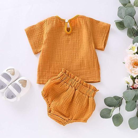 Yaohxu - Pelele para recién nacido, de algodón y lino, con ...