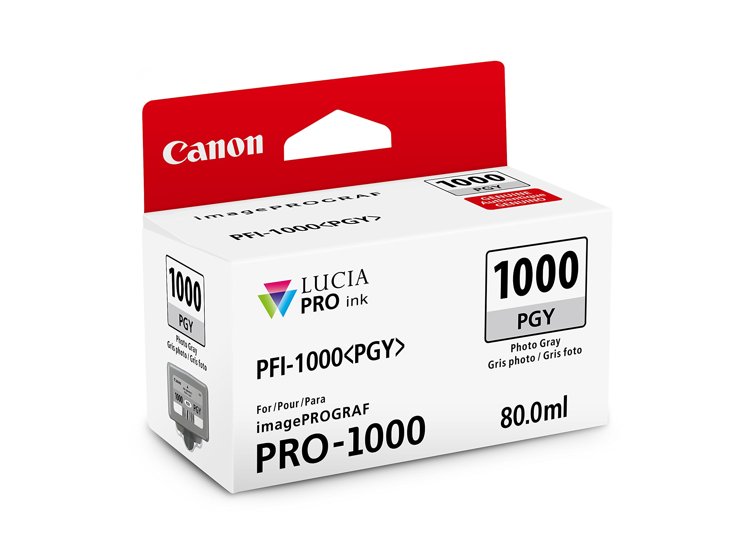 CanonInk LUCIA PRO PFI-1000 Photo Gray Individual Ink Tank