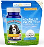 Advanced Probiotic 2 Month Supply - 15 billion/CFU 10 Strains for Dog Health-Voted Best Dog Probiotic 2017 & 2018! Helps Digestion, IBS, Allergies, Dental Issues, Yeast, & Diarrhea