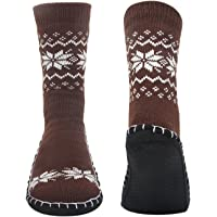 Men's Winter Knitted Non-Skid Home Warm Slipper Socks Indoor Floor Stocking House Shoes