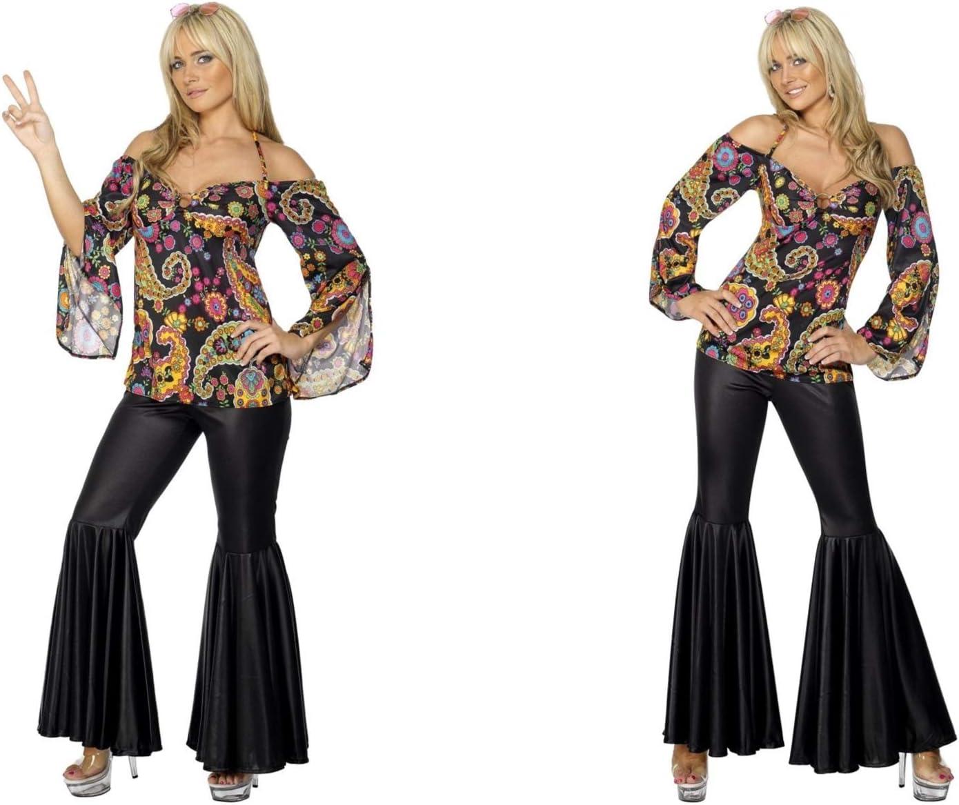 Fancy Dress World – Disfraz de Hippie Chic de los años 60 para ...