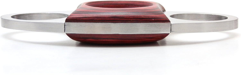 /madera y acero inoxidable La Sra Brog guillotina cortador de puros/
