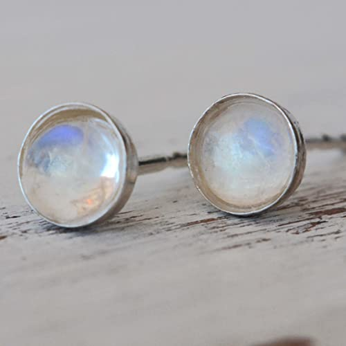 sterling silver shop earrings jewellery square rainbow stone moon moonstone