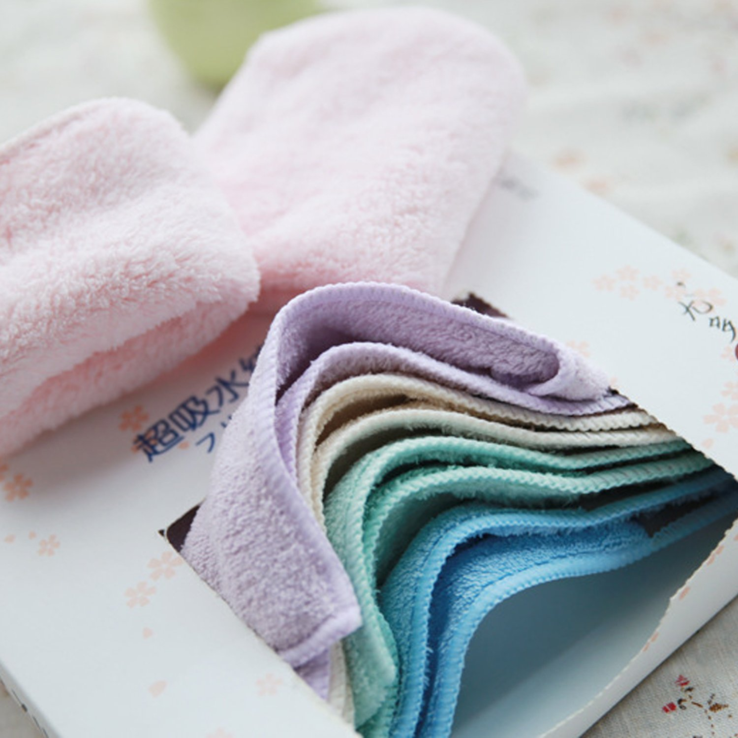 SONARIN Reusable Micro Fibre Cloth Baby Wipes Baby Towel,softer,30 Wipes 3 packs