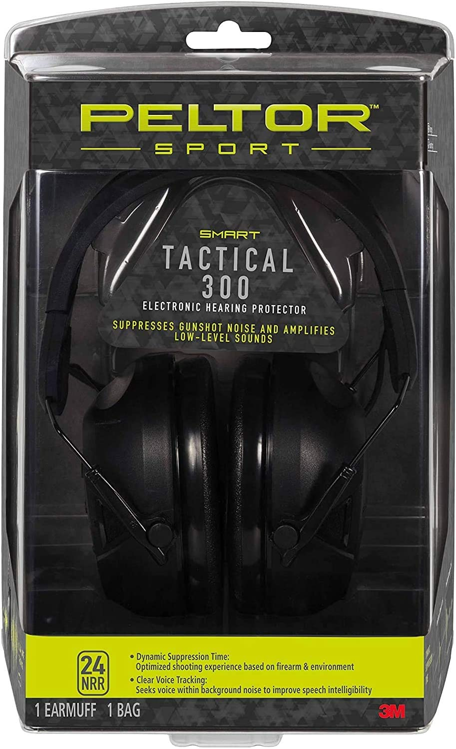 Peltor Sport Tactical 300 Smart Electronic Hearing Protector, Ear Protection, NRR 24 dB, Ideal for the Range, Shooting and Hunting, TAC300-OTH: Home Improvement