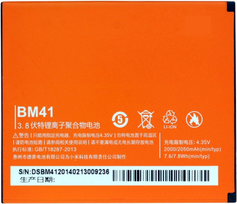 Bateria Compatible con BM41 para Xiaomi Hongmi (Red Rice/Redmi) HM 1S/1SW / Redmi 1/1S | 2000mAh