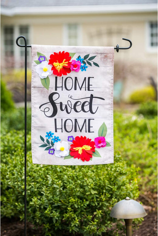 "Home Sweet Home Interchangable 12/"" x 18/""Garden Flag by Evergreen 14B9550"