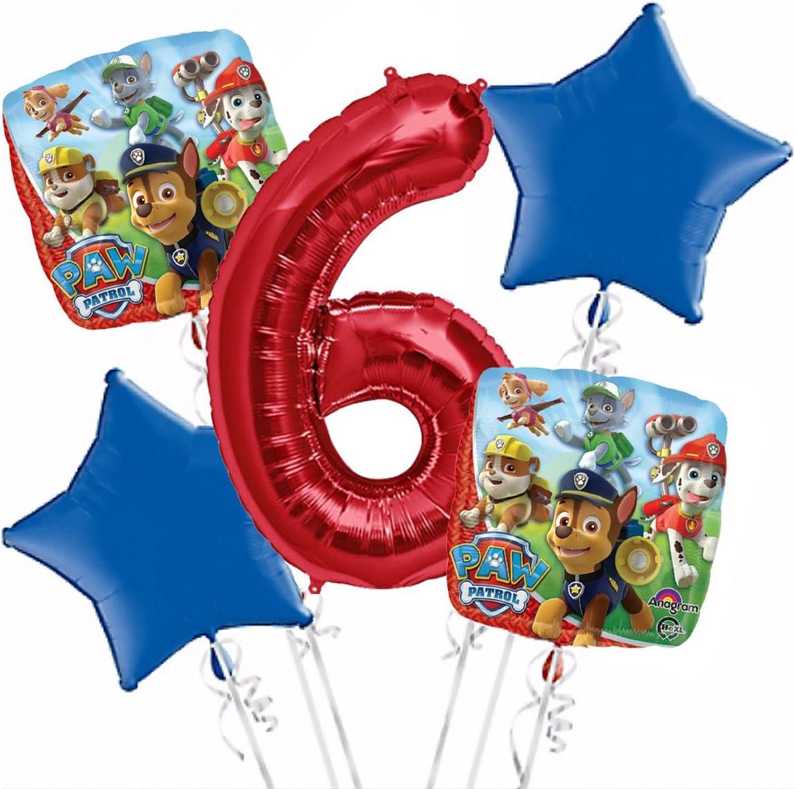 Party Supplies Paw Patrol Girl Balloon Bouquet 3rd Birthday 5 pcs