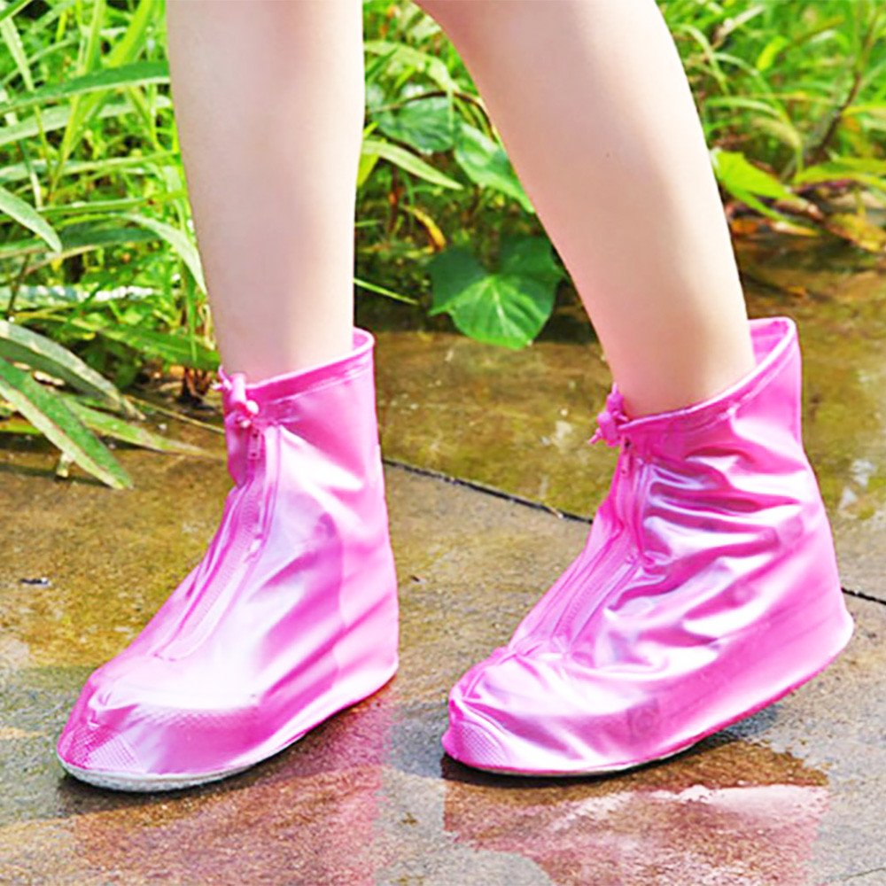 Rain Boots Shoes Covers Waterproof Reusable Foldable Thicken Sole Overshoes Galoshes For Travelling Cycling Camping Fishing Garden Outdoors Women Men Thicker Non-slip Scootor Boots