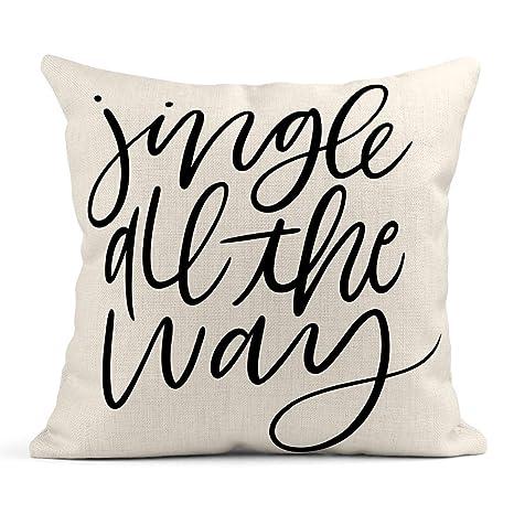 Cojín Almohada Cepillo con Letras Vacaciones Jingle All The ...