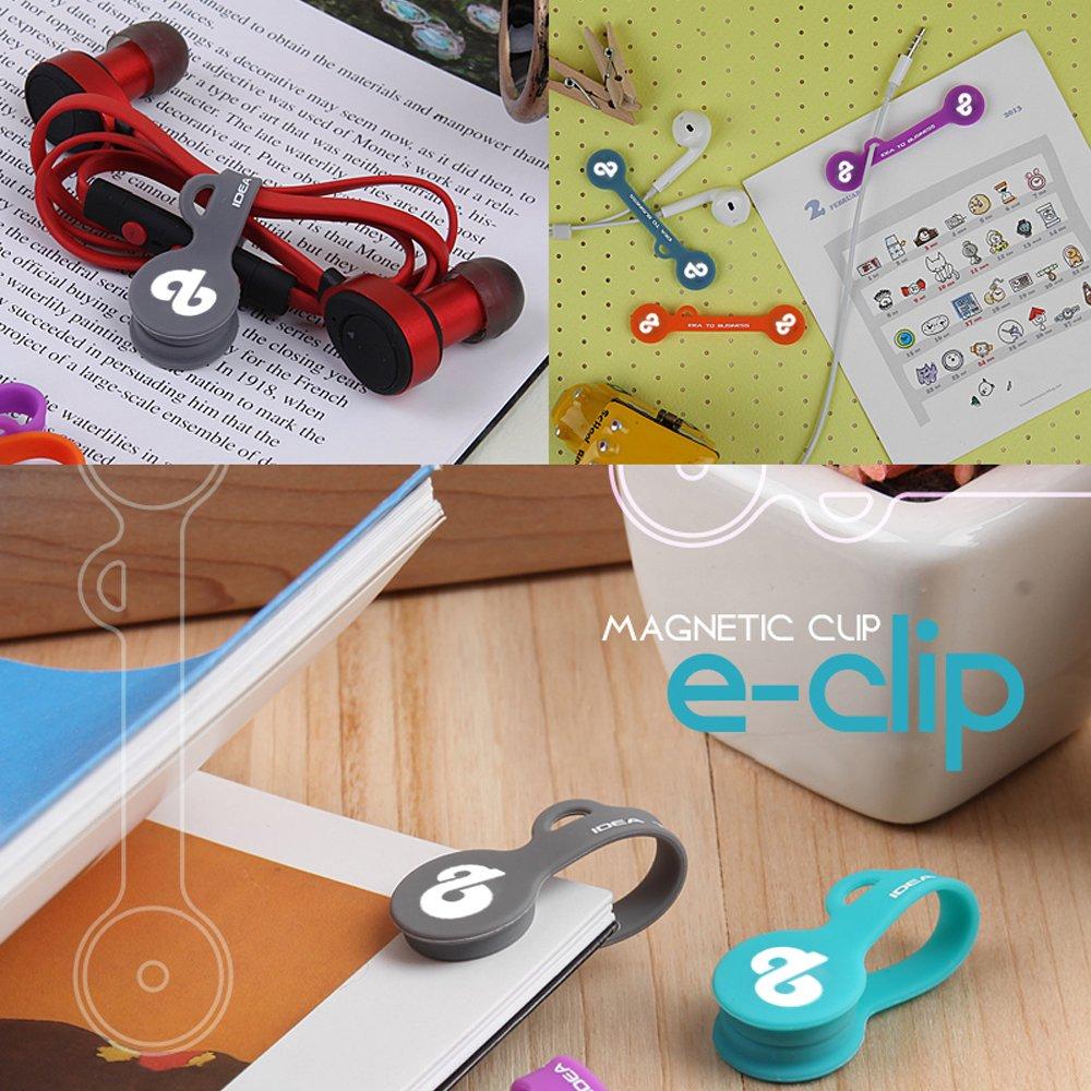 Elektronische Klammer magnetischen Kabel-Clip-Kopfhörer Tasche ...