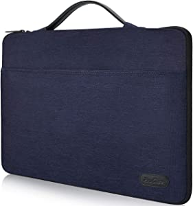 "ProCase 12-12.9 inch Sleeve Case Bag for Surface Pro X 2017/Pro 7 6 4 3, MacBook Pro 13, iPad Pro Protective Carrying Cover Handbag for 11"" 12"" Lenovo Dell Toshiba HP ASUS Acer Chromebook -Darkblue"