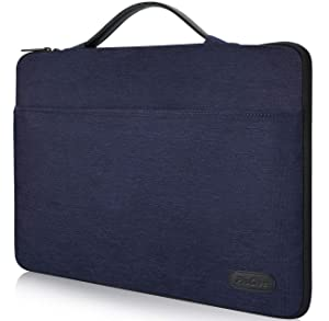 "ProCase 14-15.6 Inch Laptop Sleeve Case Protective Bag, Ultrabook Notebook Carrying Case Handbag for 14"" 15"" Dell Lenovo HP Asus Acer Samsung Sony Toshiba Chromebook Computers -Darkblue"
