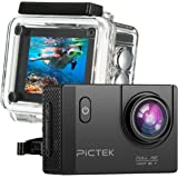 PICTEK Action Camera,Underwater Camera, Sports Camera, Waterproof WIFI 2.0 Inch HD 1080P Sports Cameras with 170 Degree Wide Angle Lens,Multiple Accessories Kit,for Outdoor Sports Bicycle Motorcycle Diving Swimming Skiing Sliver