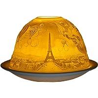 Him Paris DL0022 - Portavelas candelabros de Cristal