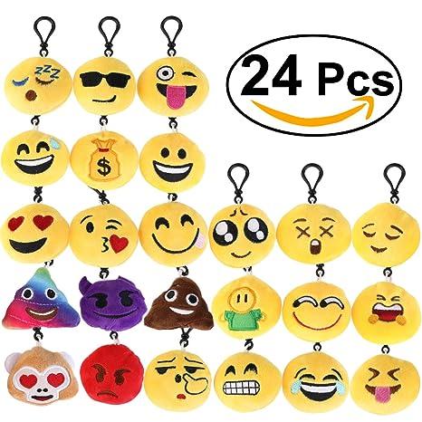 BESTOMZ Conjunto Peluche Llavero Bolsa Colgante 6 cm (Conjunto de 24)